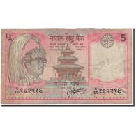 Billet, Népal, 5 Rupees, KM:30a, B+ - Népal
