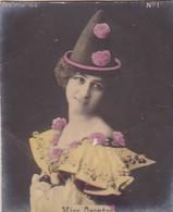 MISS ORONTES. COLORISE. CARD TARJETA COLECCIONABLE TABACO. CIRCA 1915 SIZE 4.5x5.5cm - BLEUP - Berühmtheiten