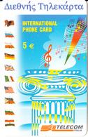 GREECE - Telecom Italia Prepaid Card 5 Euro, Used - Greece