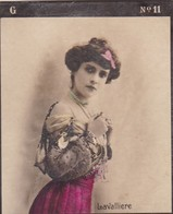 LAVALLIERE. COLORISE. CARD TARJETA COLECCIONABLE TABACO. CIRCA 1915 SIZE 4.5x5.5cm - BLEUP - Berühmtheiten