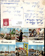 609054,Mehrbild Ak Volendam Tracht Schiff Boot Glocke Netherlands - Ansichtskarten