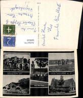 609028,Mehrbild Ak Groeten Uit Oostvoorne A. Zee Aan Het Strand Ned. Herv. Kerk Nethe - Ansichtskarten