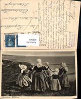 608963,Zoutelande Walcheren Tracht Mädchen Tanzen Netherlands - Ansichtskarten
