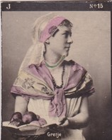 GRETJE. COLORISE. CARD TARJETA COLECCIONABLE TABACO. CIRCA 1915 SIZE 4.5x5.5cm - BLEUP - Berühmtheiten
