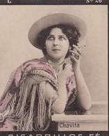 CHAVITA. CIGARRILLOS FE. COLORISE. CARD TARJETA COLECCIONABLE TABACO. CIRCA 1915 SIZE 4.5x5.5cm - BLEUP - Berühmtheiten