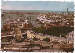 W2555 Genova - Stazione Marittima - Porto - Navi Ships Bateaux / Viaggiata 1951 - Genova