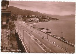 W2557 Genova - Corso Italia - Panorama / Viaggiata 1951 - Genova