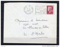 Lil3Q96 Ille Et Vilaine Dol De Bretagne Secap 0= Cathédrale XVIè Siecle ... /Lettre 05/08/1970 - Marcophilie (Lettres)