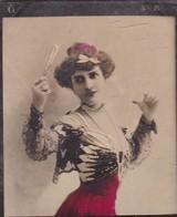 LAVALLIERE. CIGARRILLOS FE. COLORISE. CARD TARJETA COLECCIONABLE TABACO. CIRCA 1915 SIZE 4.5x5.5cm - BLEUP - Berühmtheiten