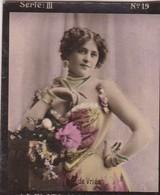 DE VRIES. LA PLATA Y LA ELEGANCIA. COLORISE. CARD TARJETA COLECCIONABLE TABACO. CIRCA 1915 SIZE 4.5x5.5cm - BLEUP - Berühmtheiten