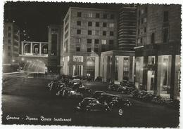 W2559 Genova - Piazza Dante - Notturno Notte Nuit Night Nacht Noche - Auto Cars Voitures / Viaggiata 1951 - Genova