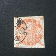 ◆◆◆ Japan 1885 Telegraph Stamps   10Sen  USED   AA2502 - Japon