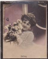 DELMAY. LA PLATA Y LA ELEGANCIA. COLORISE. CARD TARJETA COLECCIONABLE TABACO. CIRCA 1915 SIZE 4.5x5.5cm - BLEUP - Berühmtheiten