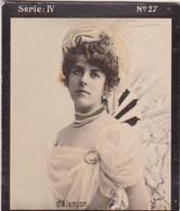 D'ALENÇON. HABANILLOS LA PLATA. COLORISE. CARD TARJETA COLECCIONABLE TABACO. CIRCA 1915 SIZE 4.5x5.5cm - BLEUP - Berühmtheiten