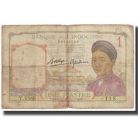 Billet, FRENCH INDO-CHINA, 1 Piastre, KM:92, TB - Indochine