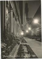 W2563 Firenze - Festa Dei Fiori - Loggiato Degli Uffizi - Notturno Notte Nuit Night Nacht Noche / Viaggiata 1954 - Firenze