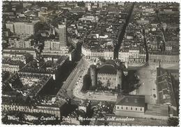 W2566 Torino - Piazza Castello E Palazzo Madama - Vista Aerea Panorama Aereo Aerial View Vue Aerienne / Viaggiata 1950 - Italia
