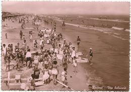 W2568 Riccione (Rimini) - Vita Balneare - Panorama Dell Spiaggia - Beach Plage Strand Playa / Viaggiata 1951 - Altre Città