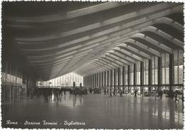 W2570 Roma - Stazione Termini - Biglietteria / Viaggiata 1953 - Stazione Termini
