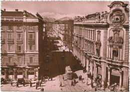 W2574 Torino - Via Cernaia - Tram / Viaggiata 1950 - Trasporti