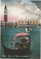 W2582 Venezia - Bacino Di San Marco Con Gondola - Barche Boats Bateaux / Viaggiata 1953 - Venezia