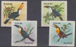 BRAZIL - 1983 Birds. Scott 1857-1860. MNH ** - Brazil