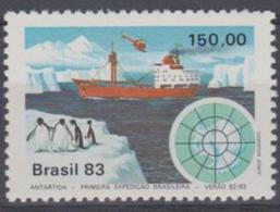 BRAZIL - 1983 Antarctic Expedition - Ship. Scott 1845. MNH ** - Brazil