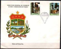 Bolivia 1988. CEFIBOL 1317-18s SPD  50 Aniversario Del Departameto Del Pando. Flora. Siringuero. - Bolivia
