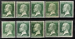FRANCE 1922/26 - LOT Y.T. N° 174 X 10 - NEUFS** - France