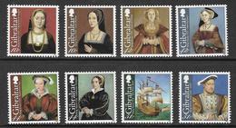 Gibraltar 2009 King Henry VIII Set 8v Unmounted Mint [4/3744/ND] - Gibraltar