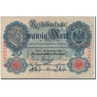 Billet, Allemagne, 20 Mark, 1914, KM:46b, TTB+ - [ 2] 1871-1918 : Empire Allemand