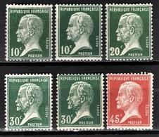 FRANCE 1922/26 - LOT Y.T. N° 170 X 2 / 172 / 174 X 2 / 175 - NEUFS* - France