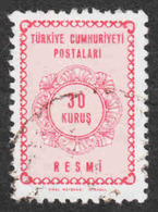 Turkey - Scott #O92 Used - Official Stamp (2) - 1921-... Repubblica