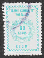 Turkey - Scott #O95 Used - Official Stamp - 1921-... Repubblica