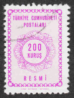 Turkey - Scott #O97 Used - Official Stamp - 1921-... Repubblica