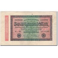Billet, Allemagne, 20,000 Mark, 1923, KM:85a, TTB - [ 3] 1918-1933 : République De Weimar