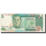 Billet, Philippines, 5 Piso, KM:168a, TTB - Philippines