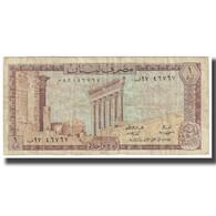Billet, Lebanon, 1 Livre, KM:61c, TB - Liban