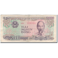 Billet, Viet Nam, 2000 D<ox>ng, 1988, KM:107b, TB+ - Viêt-Nam