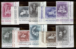 "SAN MARINO 1963 Medieval ""Knightly Games"" Scott Cat. No(s). 554-563 MNH - San Marino"