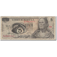Billet, Mexique, 5 Pesos, 1972-06-27, KM:62c, TB - México