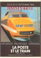 CPM - LA POSTE ET LE TRAIN - TGV POSTAL Exposition De L'UNION Des PHILATELISTES Des PTT à LYON - Bourses & Salons De Collections