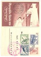 Zeppelin Hindenburg Good Stationary Card (alone 25 Euros) Plus Berlin Olympics Stamps Football Rowing - Deutschland