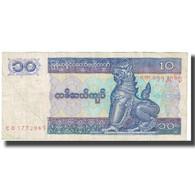 Billet, Myanmar, 10 Kyats, KM:71a, TTB - Myanmar