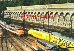 CPM - Croisement D'un TGV PSE & D'un TGV POSTAL à PARIS - BERCY - Photo S. HEINRICH - Edit. Le Petit Cheminot - Trains