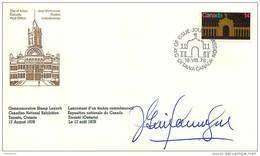 1978  Canadian National Exhibition Sc 767  Launch Ceremoniy FDC Signed Gilles Lamontagne Postmaster General - Omslagen Van De Eerste Dagen (FDC)