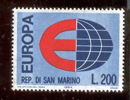 "SAN MARINO 1964 Europe ""E"" And Globe Scott Cat. No(s). 606 MNH - San Marino"