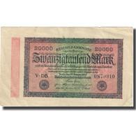 Billet, Allemagne, 20,000 Mark, 1923, 1923-02-20, KM:85f, TTB - 20000 Mark