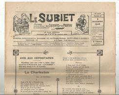Régionalime,Poitou-Charente, LE SUBIET,jhorneau Des Bons Bitons Etdes Bounes Bitounes, N° 21, 5-11-1948,,frais Fr1.85 E - Poitou-Charentes