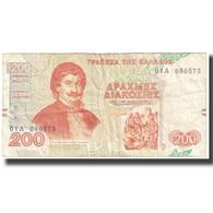 Billet, Grèce, 200 Drachmaes, 1996, 1996-09-02, KM:204a, TTB - Griekenland